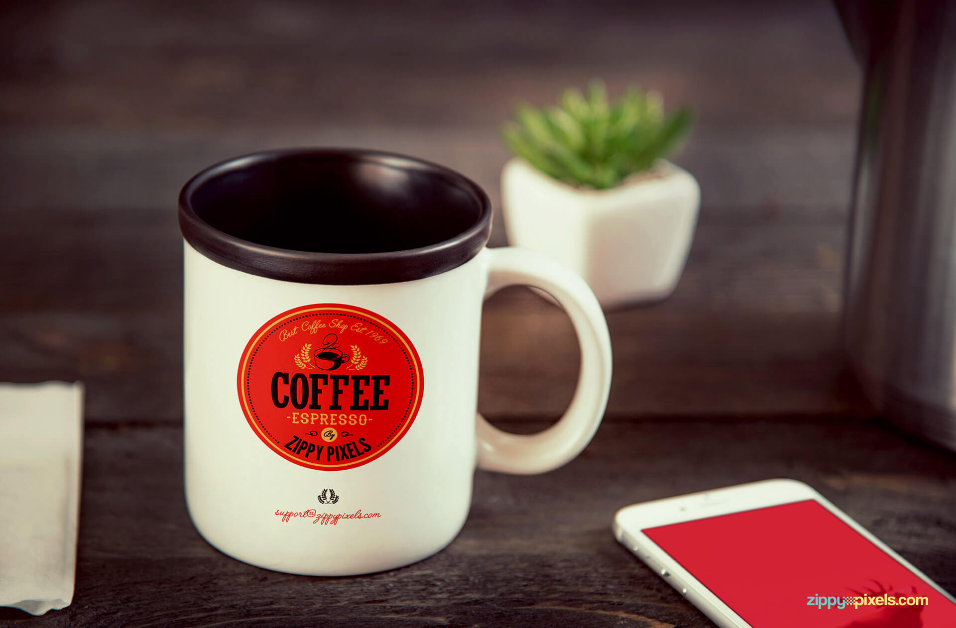 ideal coffee brand mockups