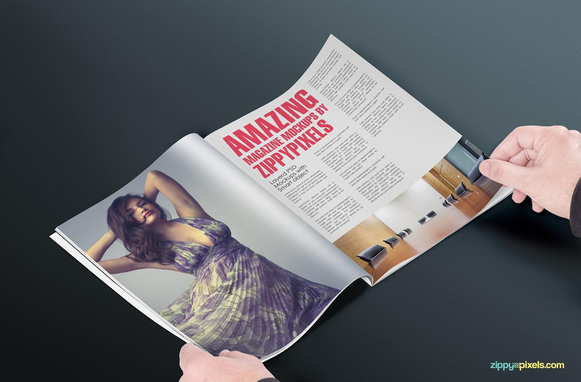 magazine mock up pack