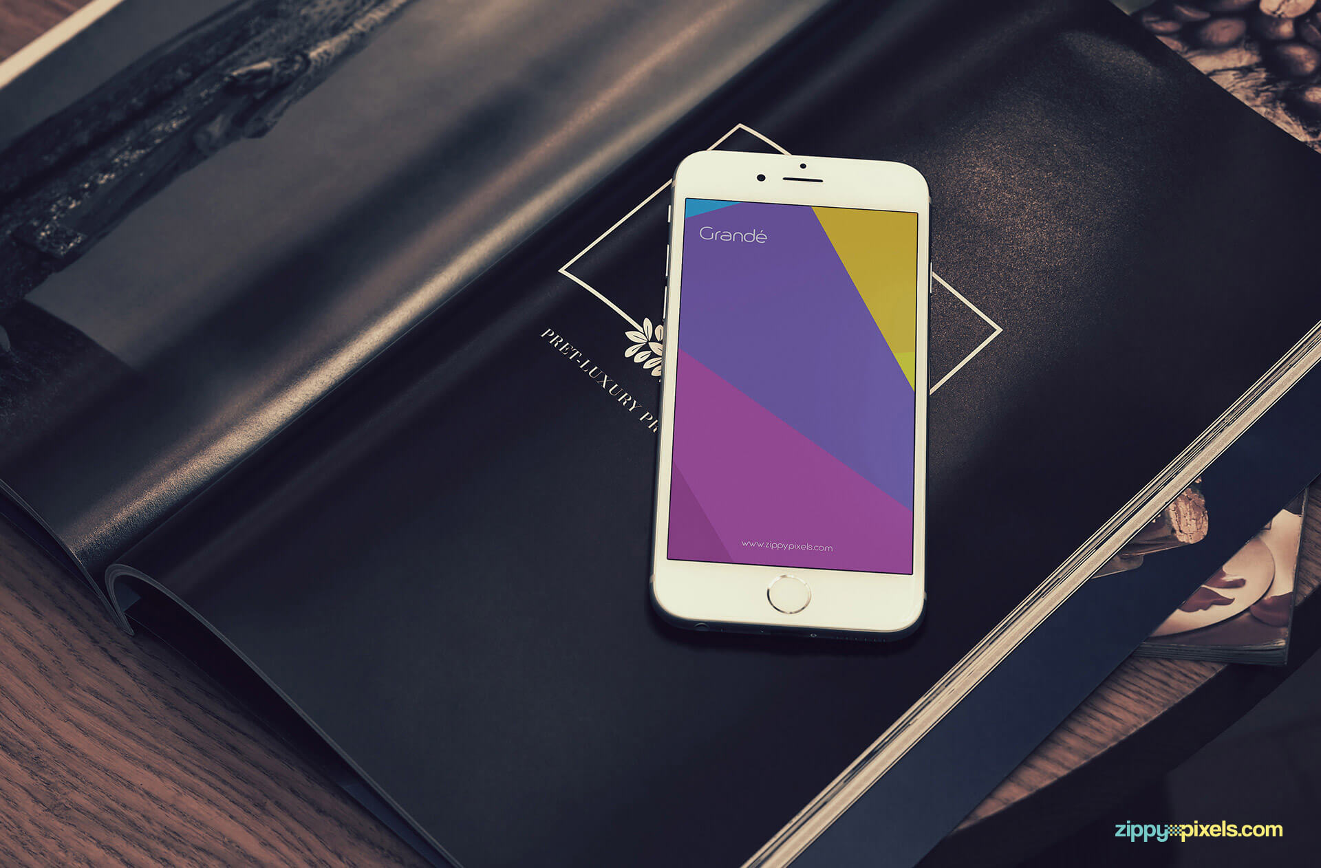 elegantly themed iphone 6s mockup psd