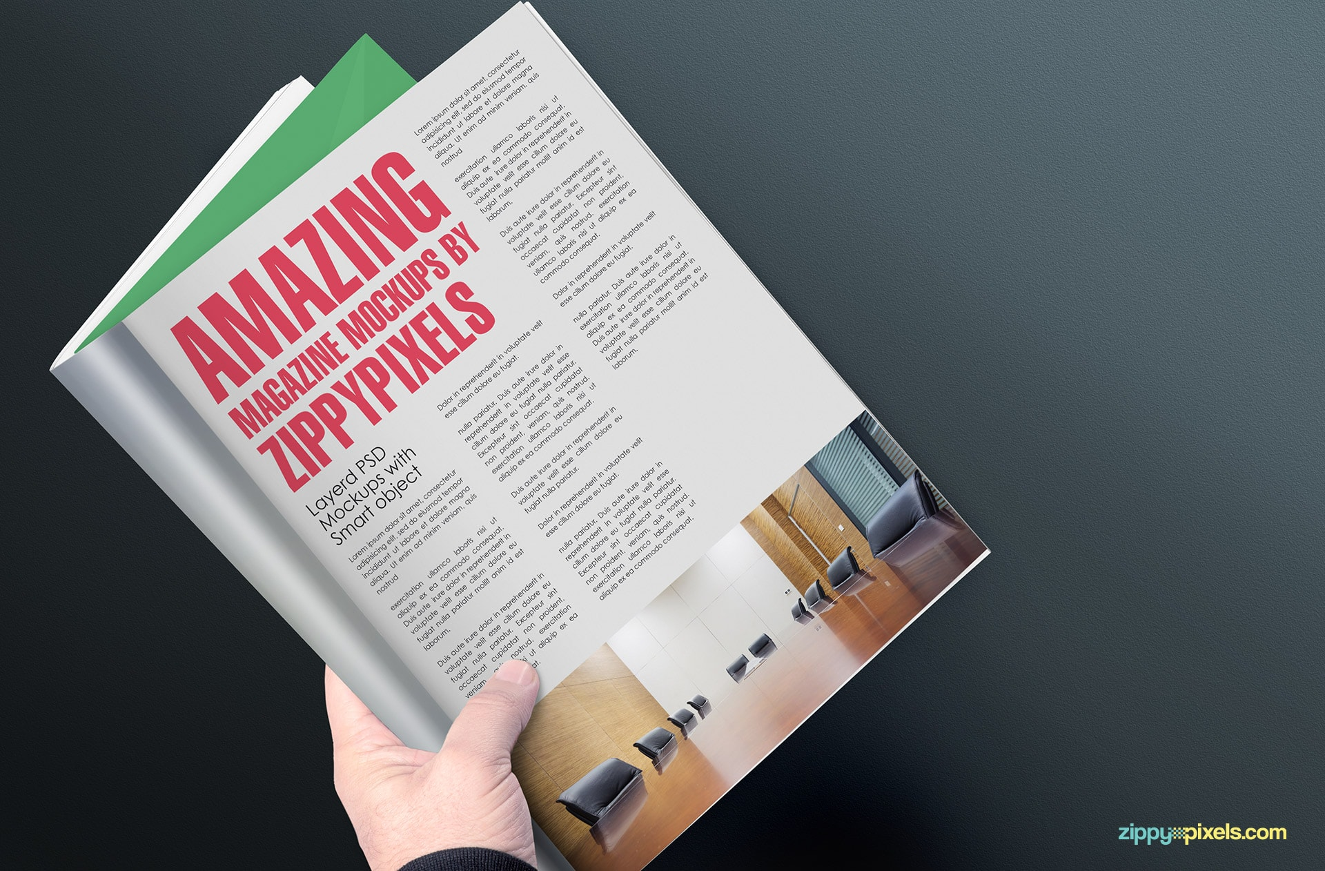 editable magazine mockups with holding positions