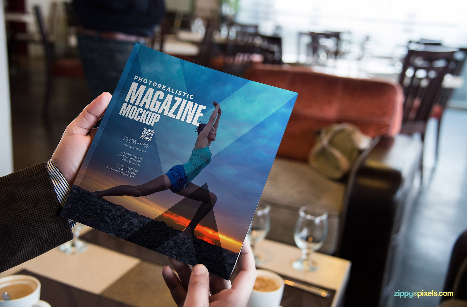magazine mocks with shadows, perspectives & effects.