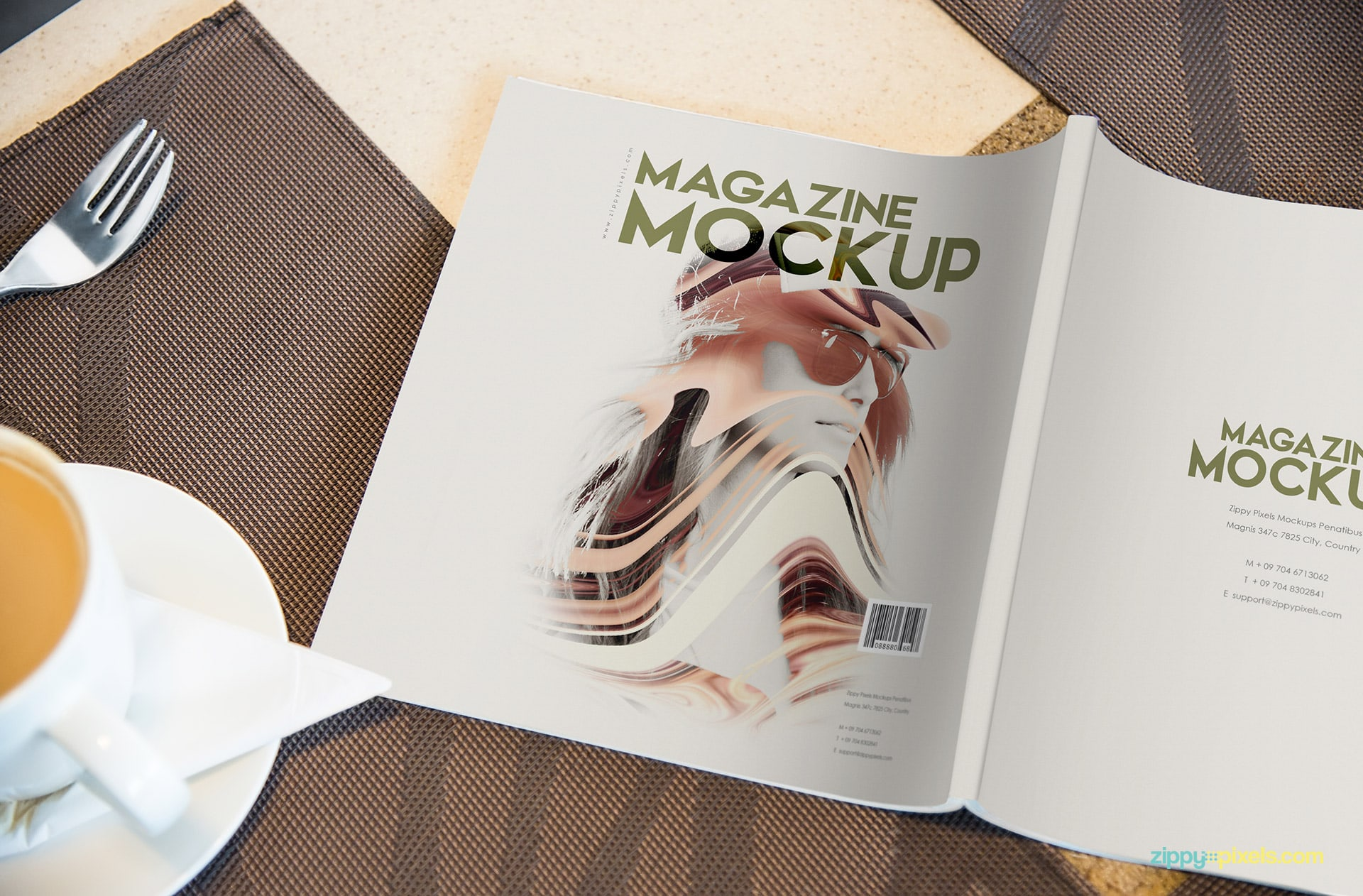 upside down magazine mock-up