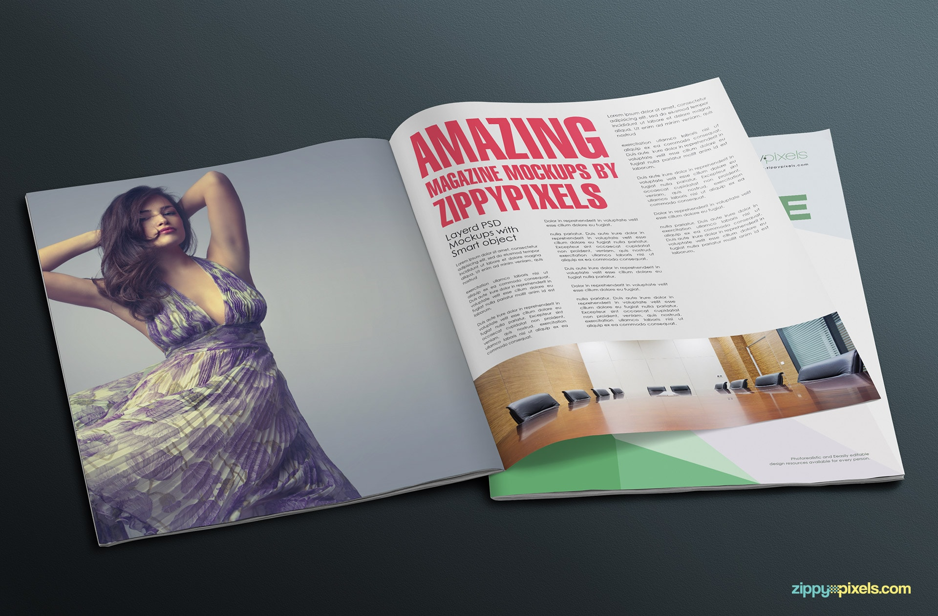 full spread mag mockup for advertising
