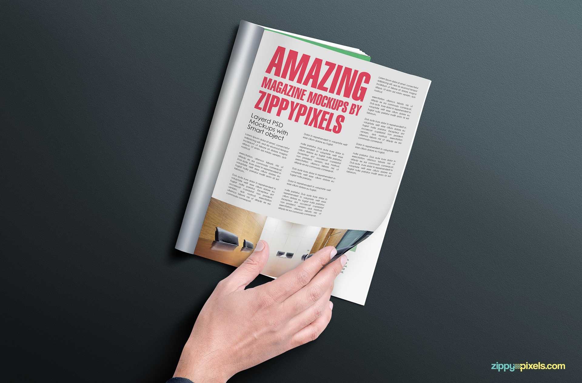 high-resolution magazine mockup in multiple views