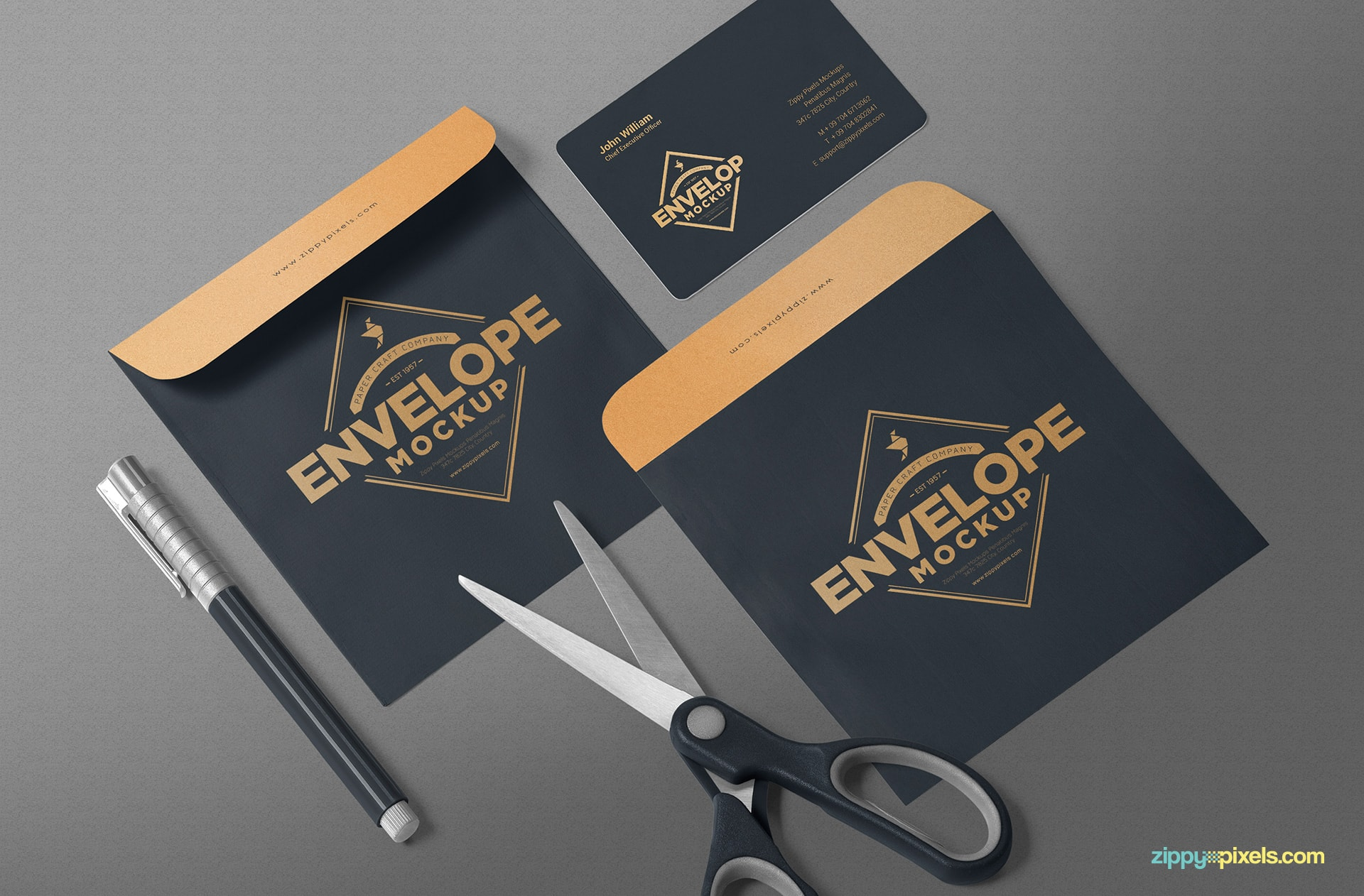 Envelope-mockup-dark-golden