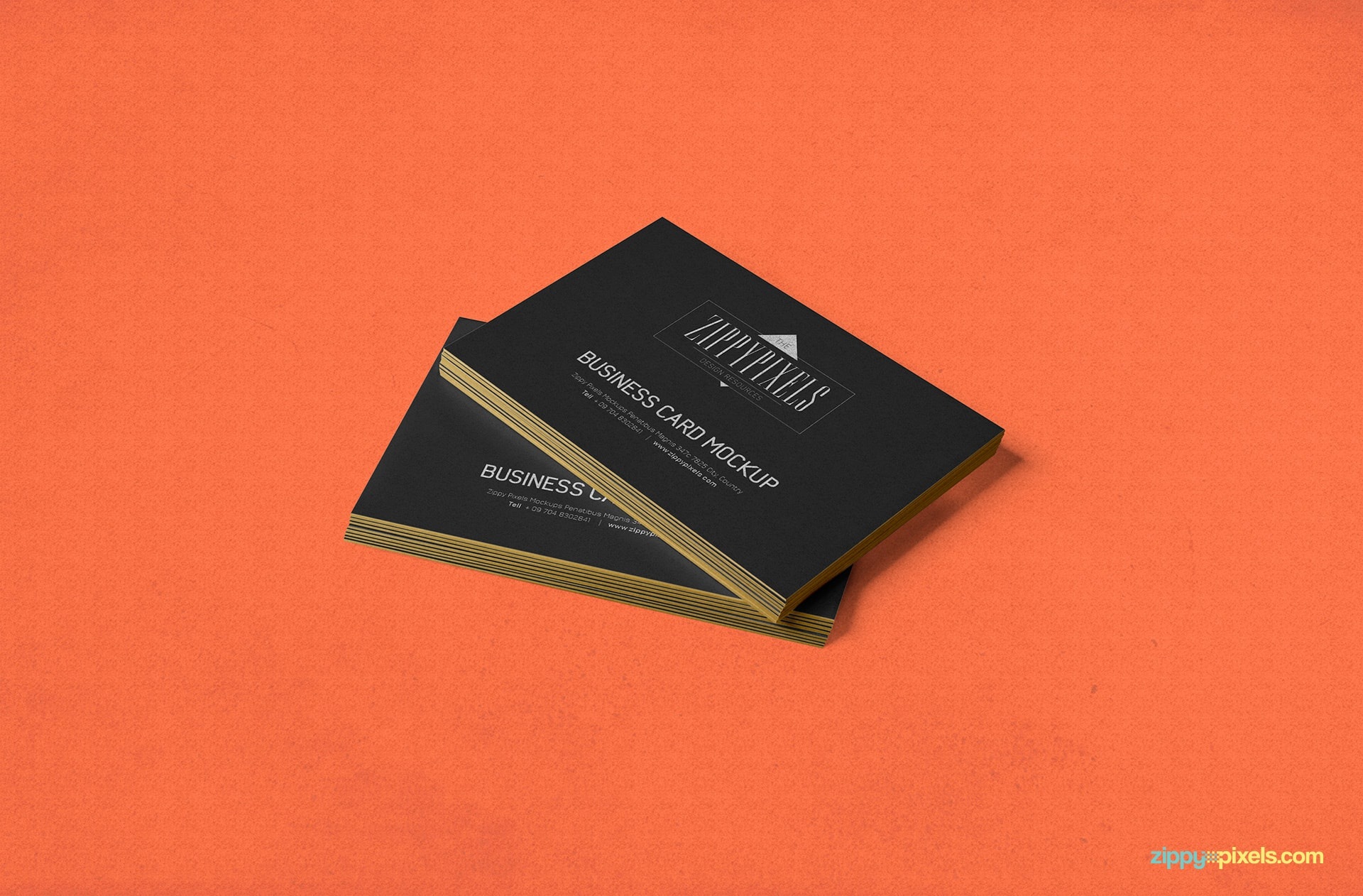 Free business card psd mockup zippypixels stacked business card card two sets colourmoves