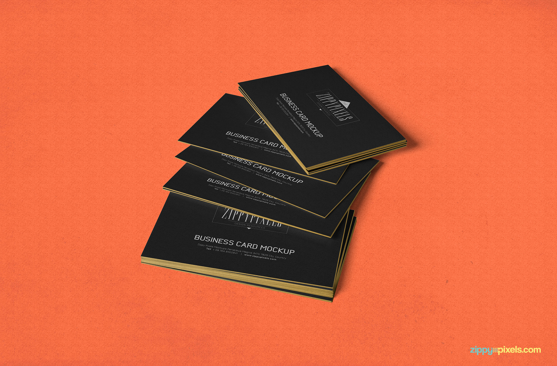 stack of business card PSD mockup.