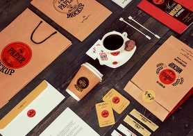 The Coffee Shop Vol. 1 (13 Branding & Packaging Coffee Mockups)
