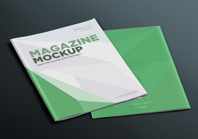 17 Simple & Clean Magazine Mockup PSD's For Full Page Designs Vol. 4
