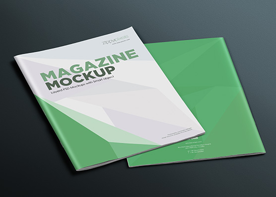 Cool magazine mockups with changeable background