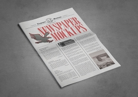 Vintage Style Newspaper PSD Advertisement Mockups Vol. 8 (Tabloid Size)