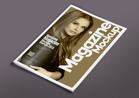 mag mock up with editable design