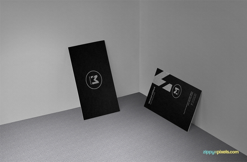 create elegant presentations of your business card designs