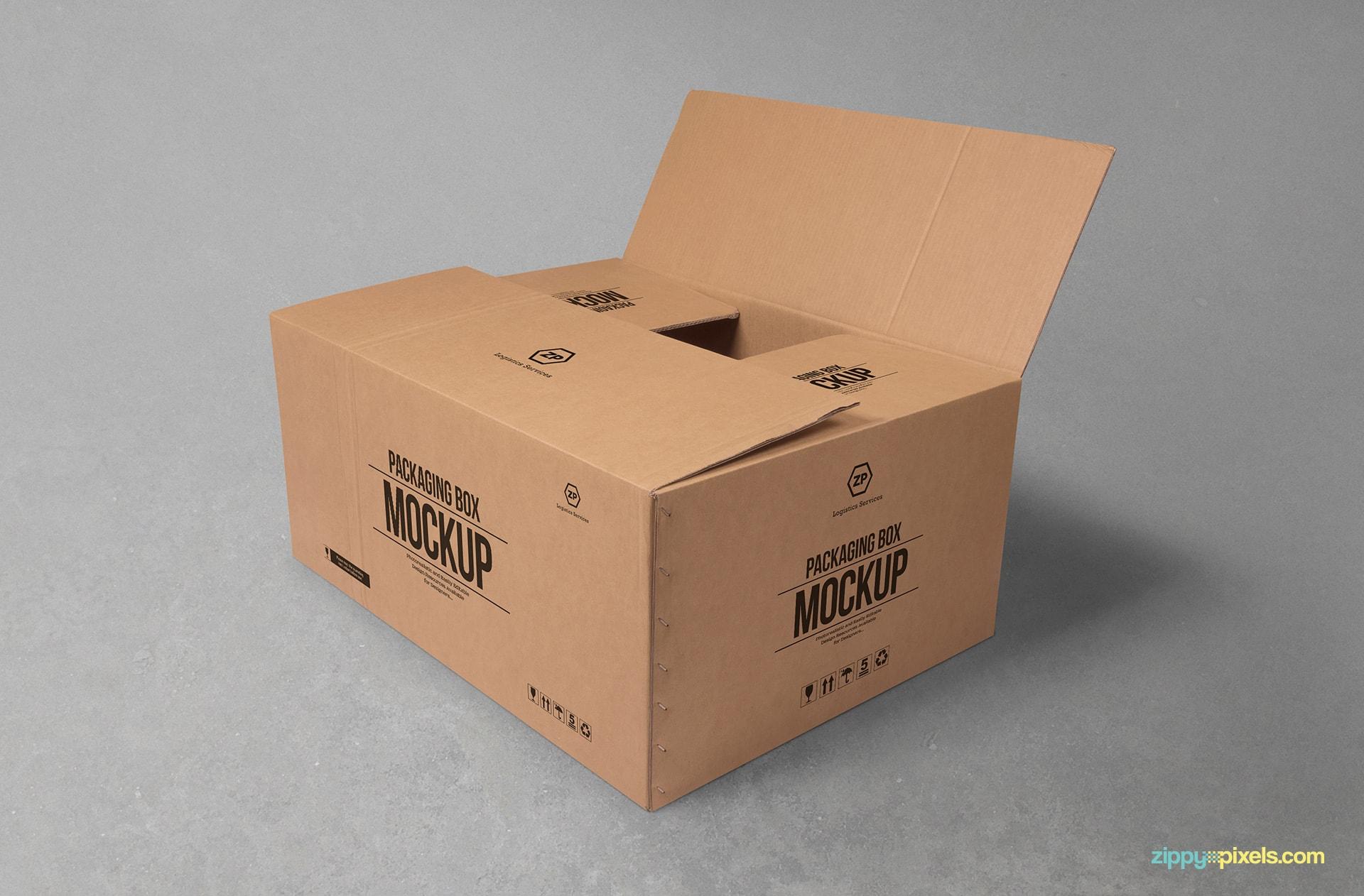 Brown Coffee Carton