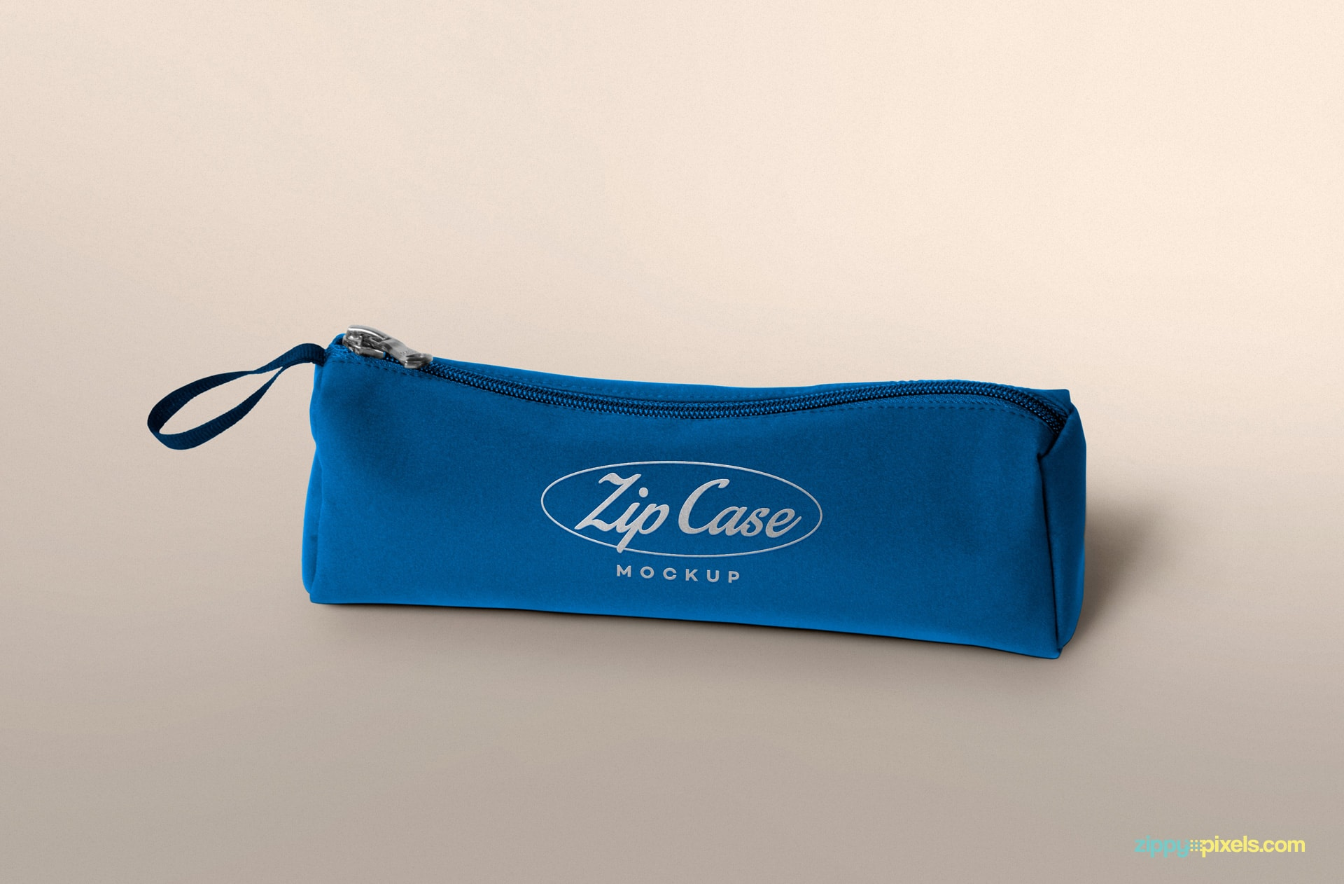 free pencil case mockup with editable logo and color