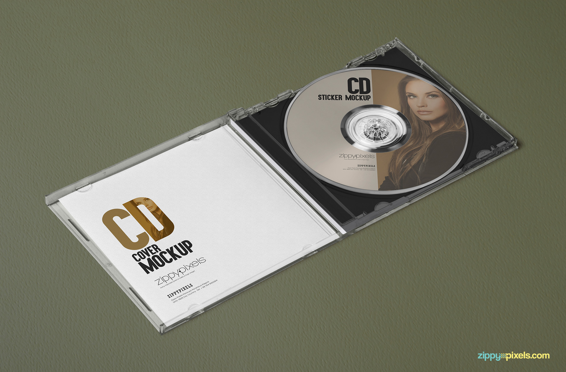 free cd case mockups for cover designs and labeling