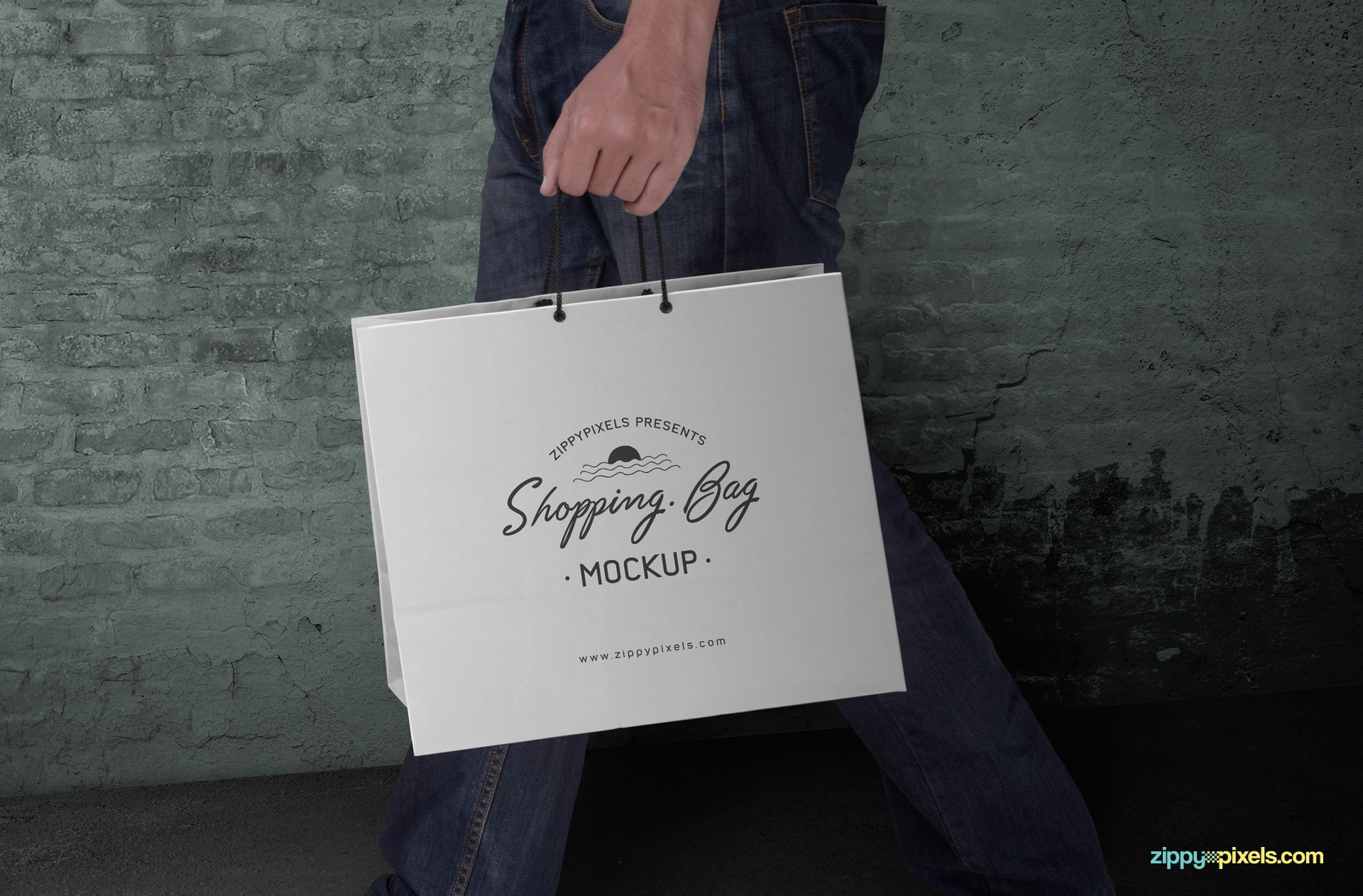 free shopping bag mockup PSD for branding