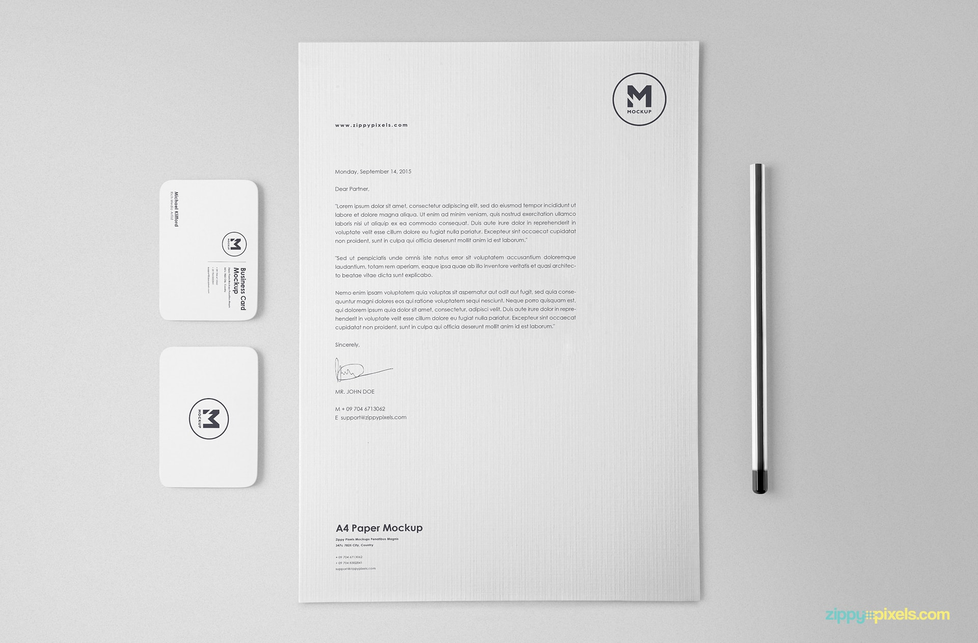 free stationery mockup set for branding