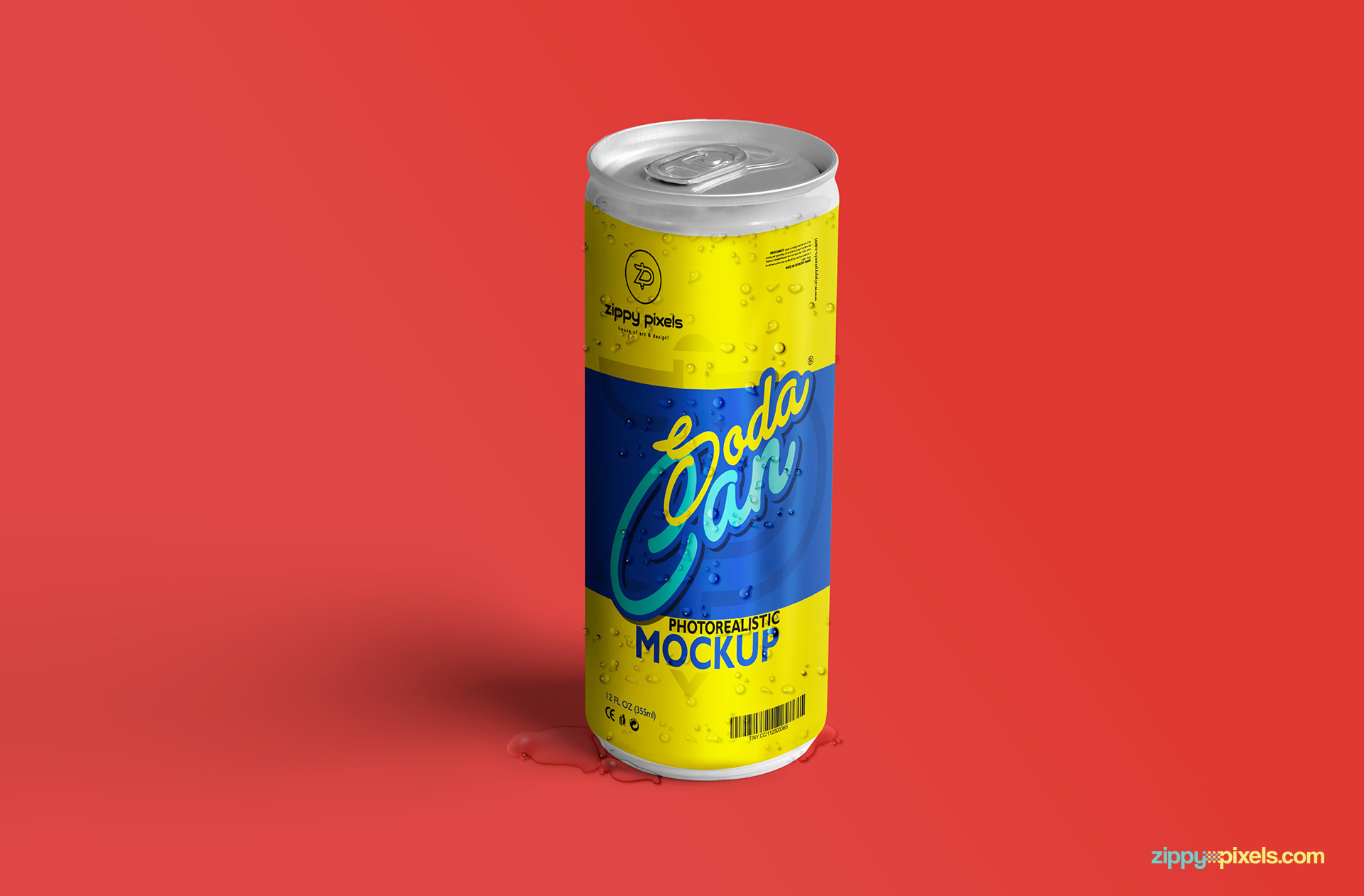 free soda can mock-up for packaging designs