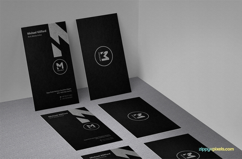 free business card mock-up with a variety of arrangements