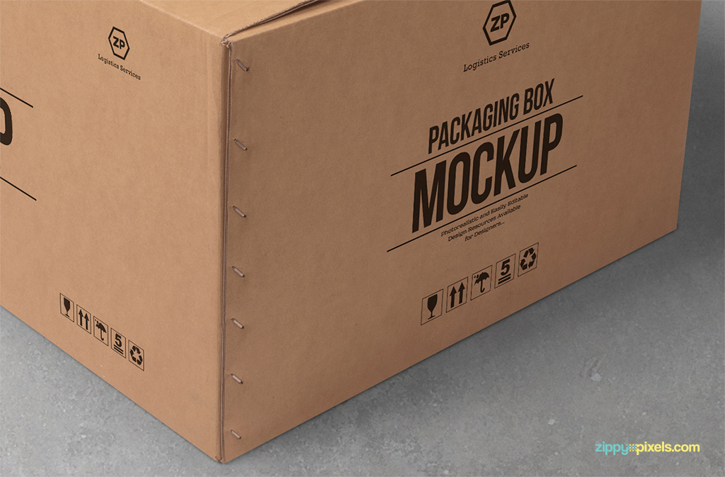 free box mockup with customizable logo designs