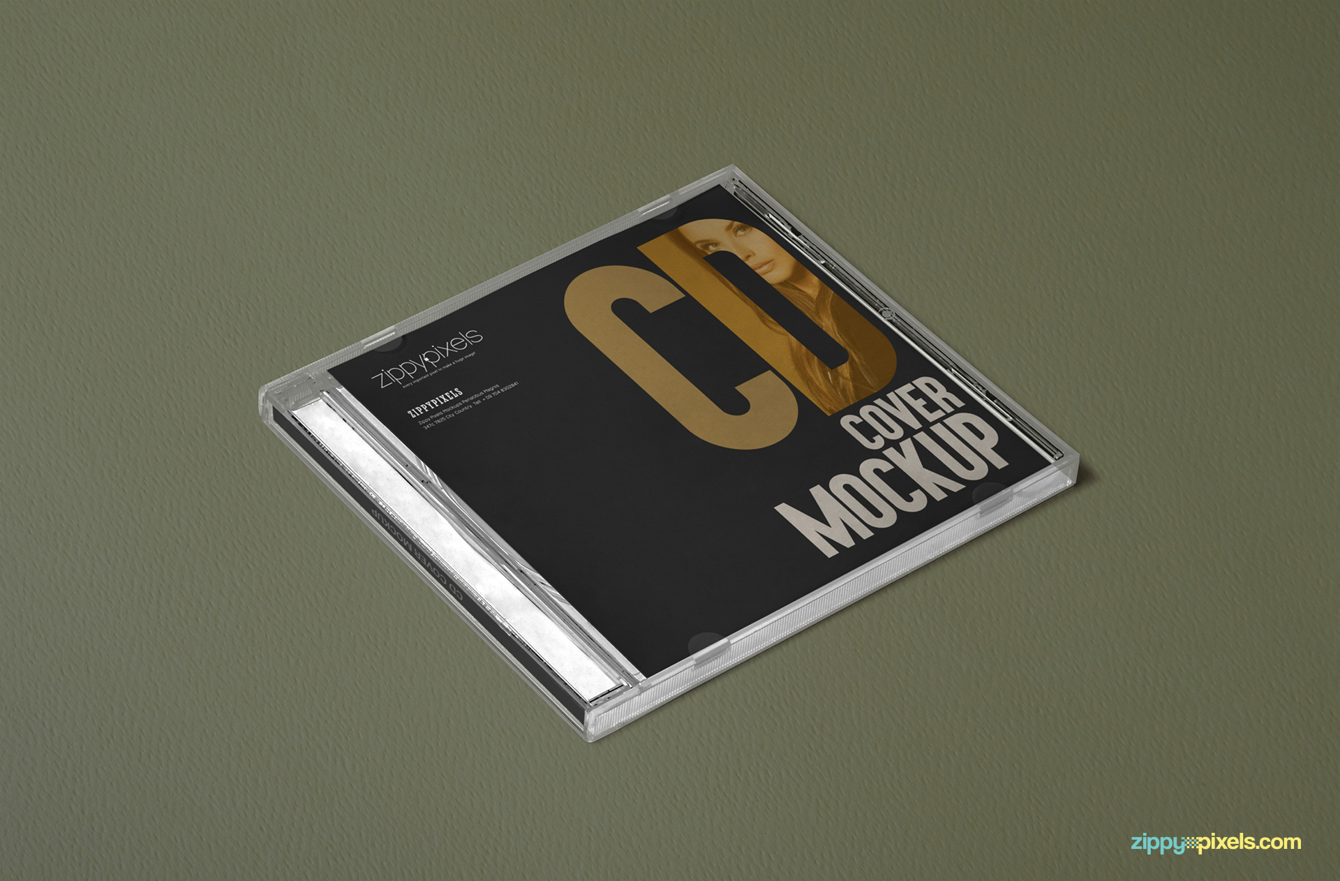 customizable front cover design of the free plastic cd case mock-up