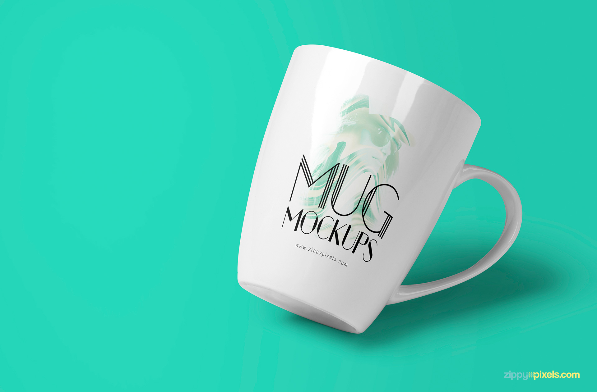 free coffee mug mock-up in multiple views