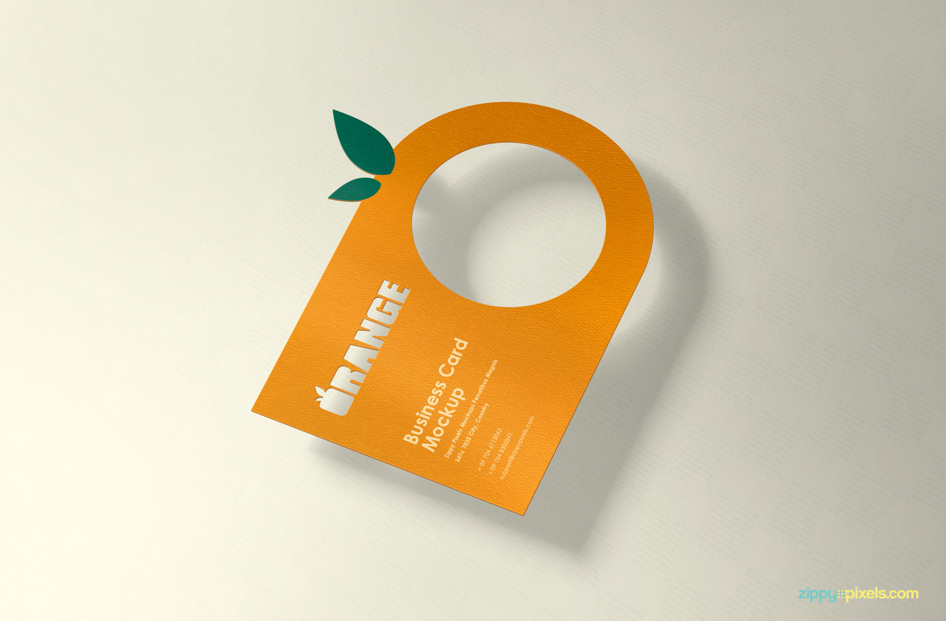 free creative business card PSD with customizable design