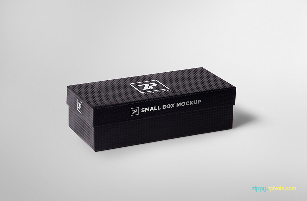 free box mock-up with customizable design