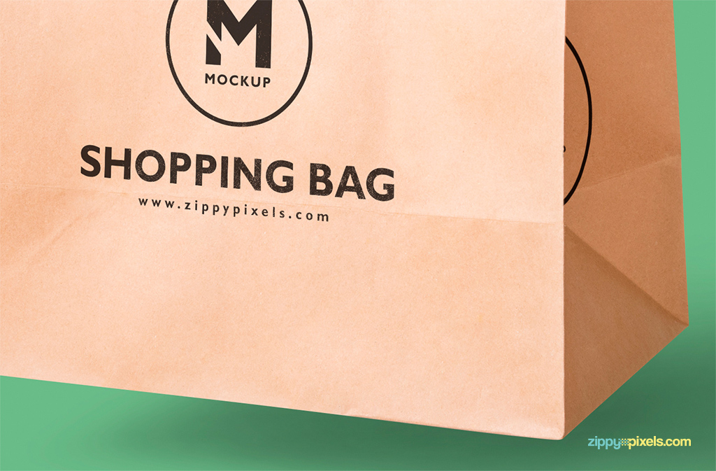free shopping bag mock-up with editable background