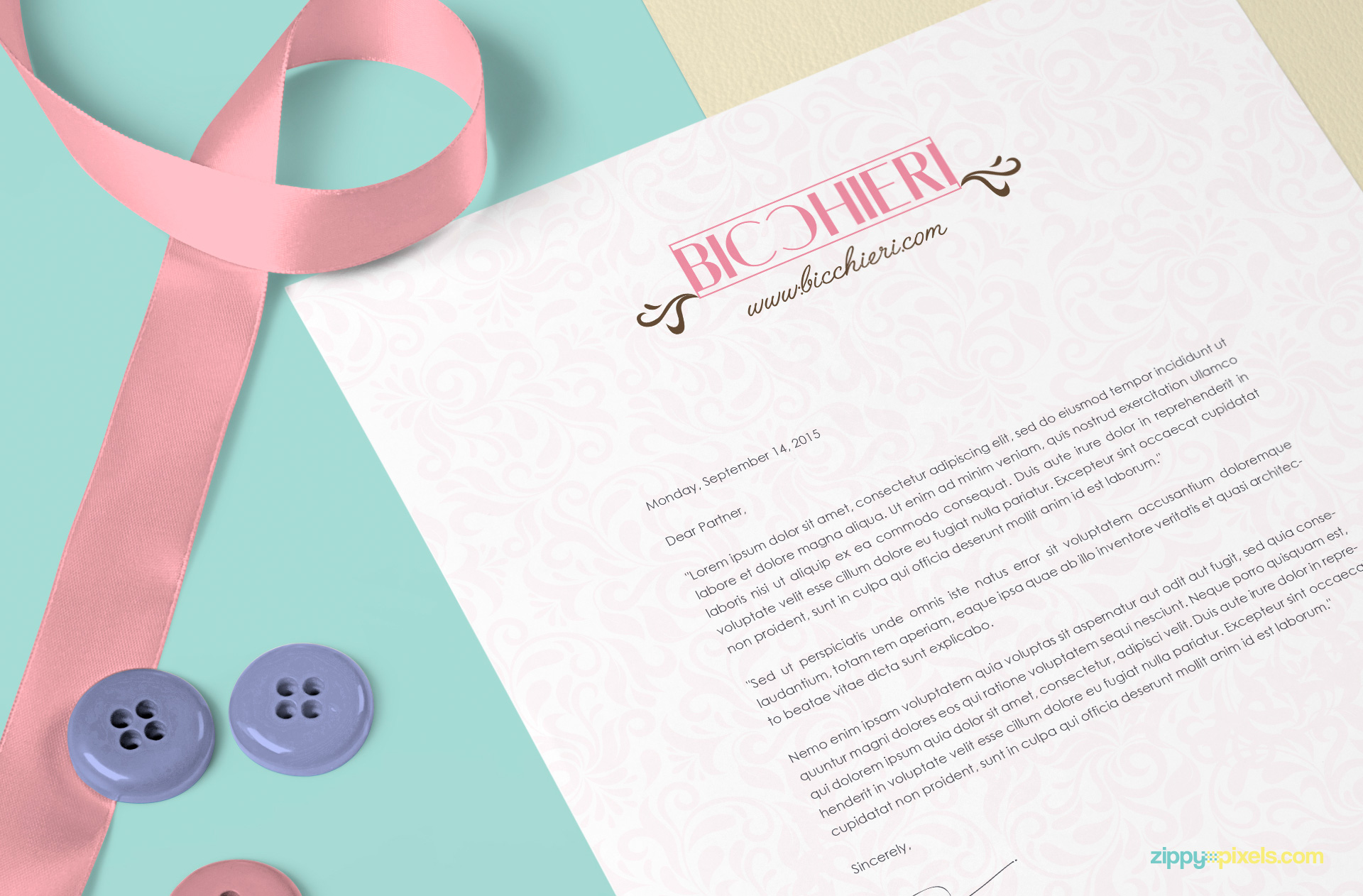free us letter size paper mock-up with smart object based customizations