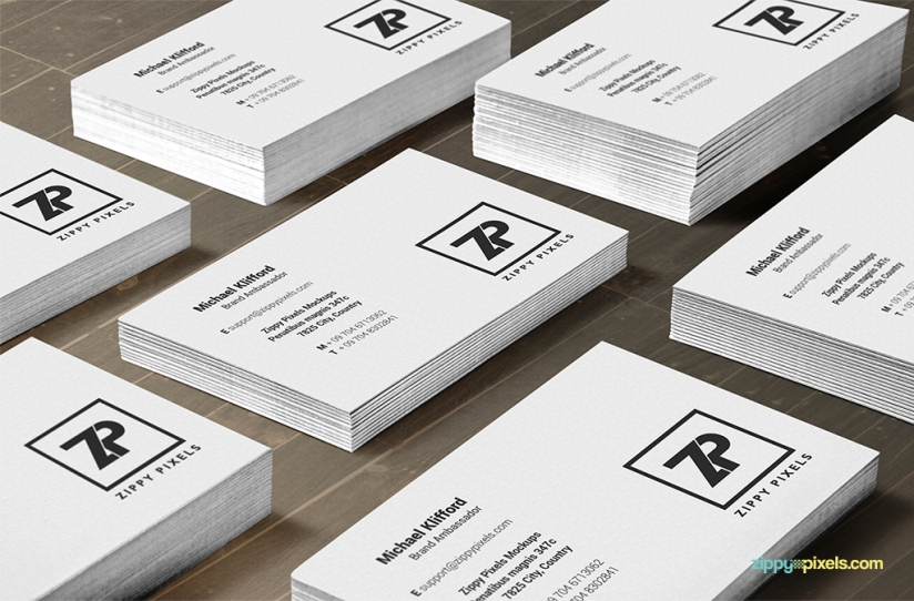 free high resolution psd business card mock-ups