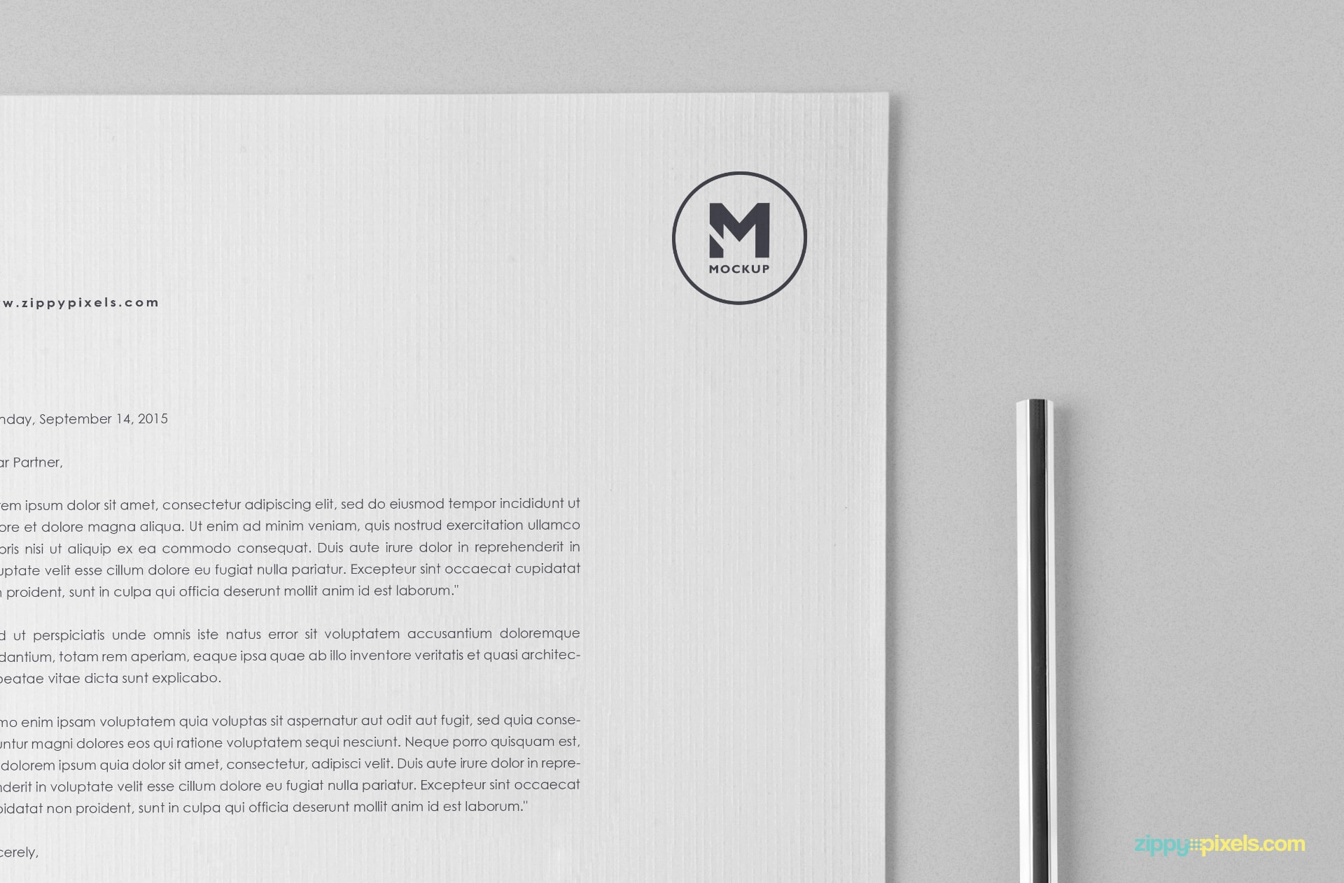free letterhead psd with customizable design