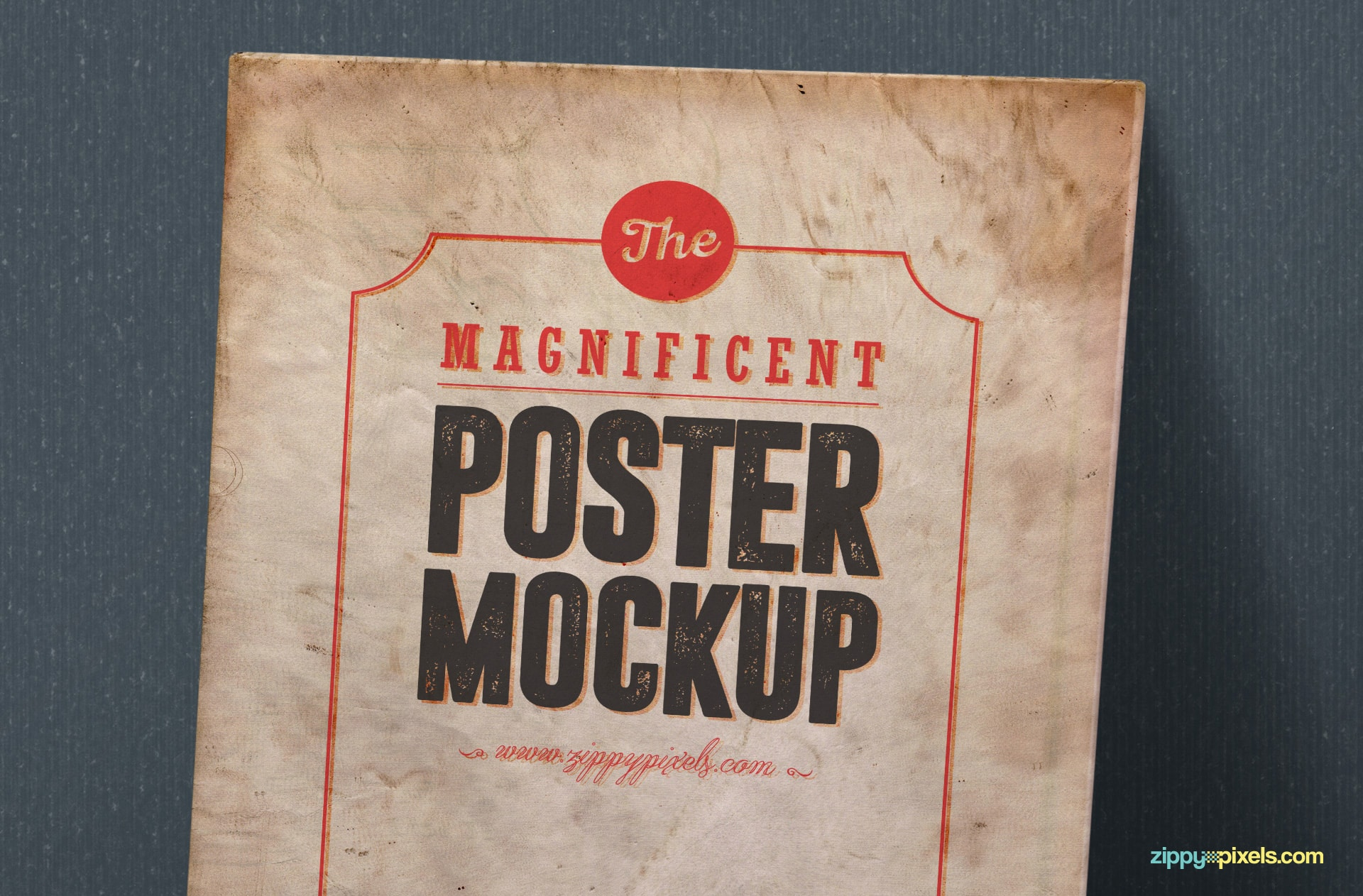 free high quality poster mock-up in PSD format