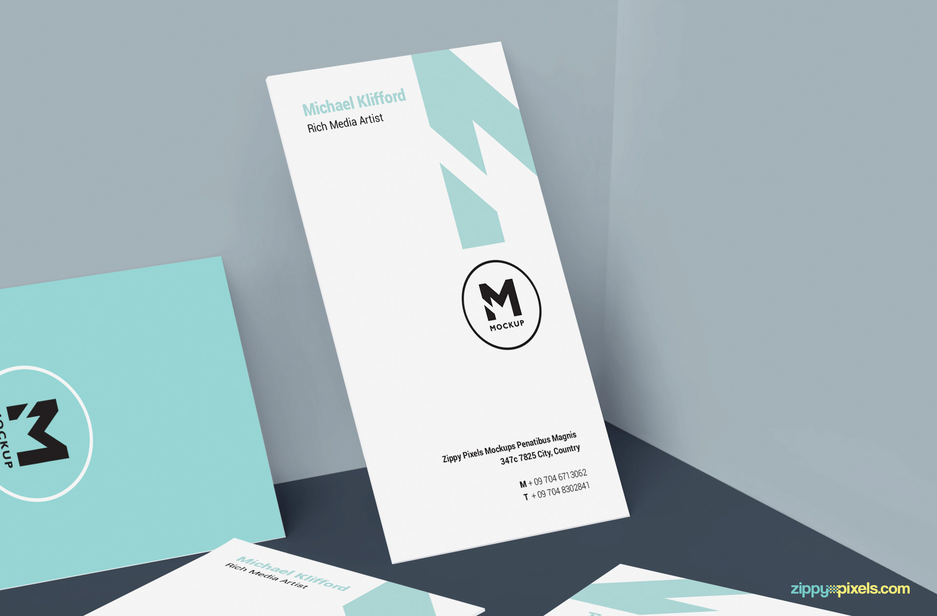 display your front and back card designs with ease