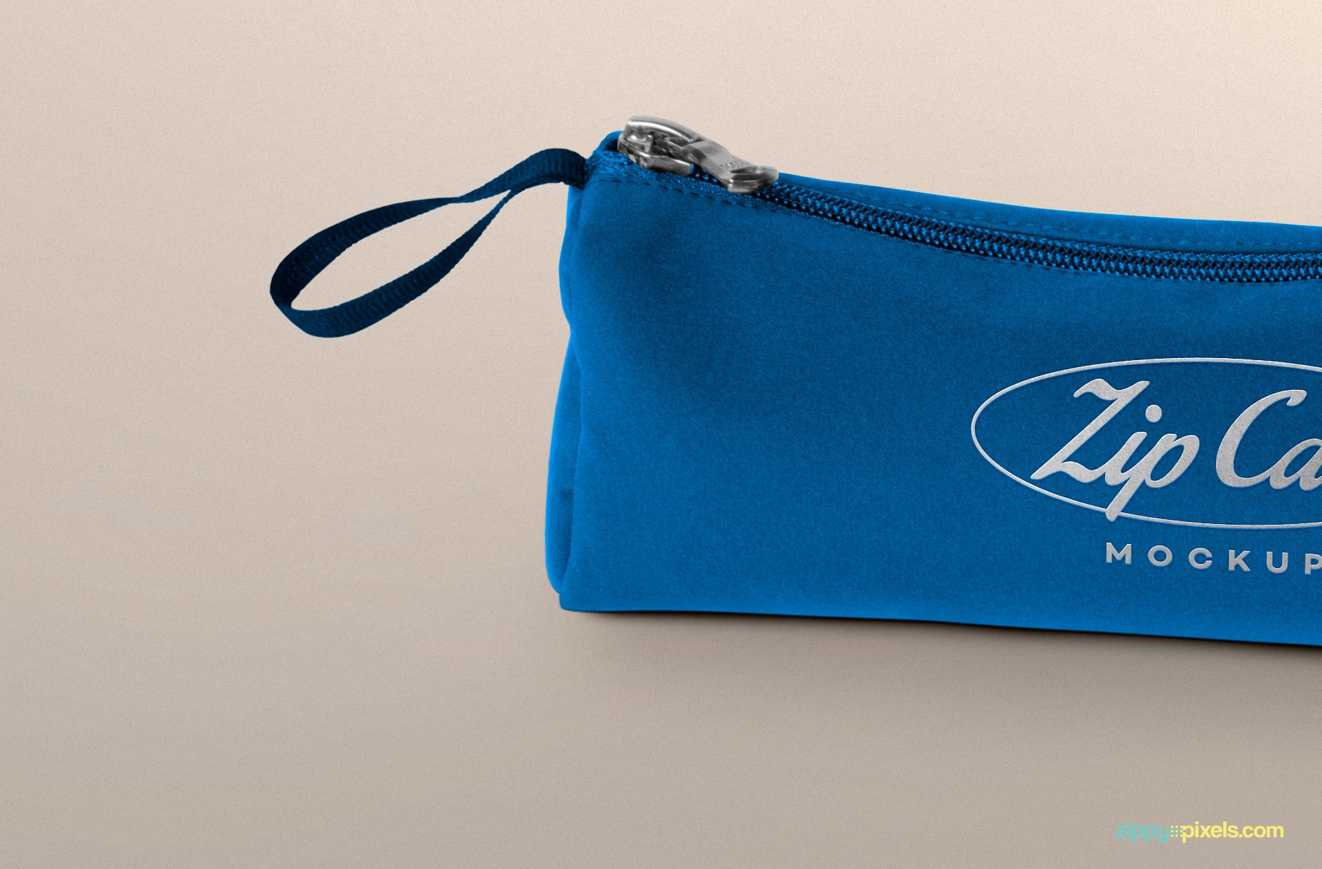 free fabric zip case mockup for branding