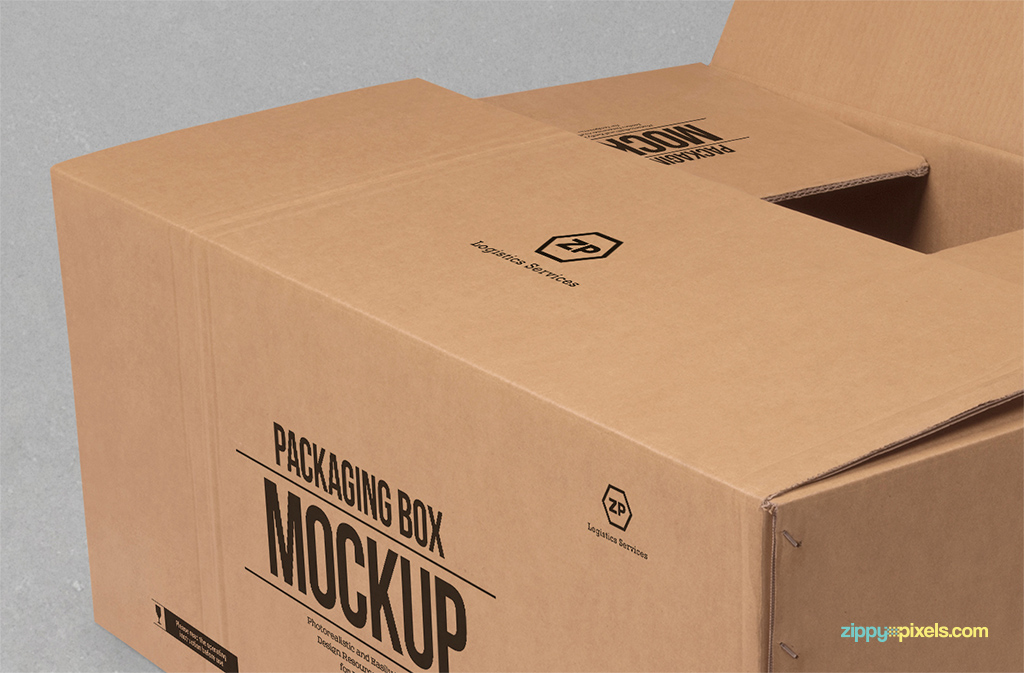 free rectangular packaging box mock-up psd