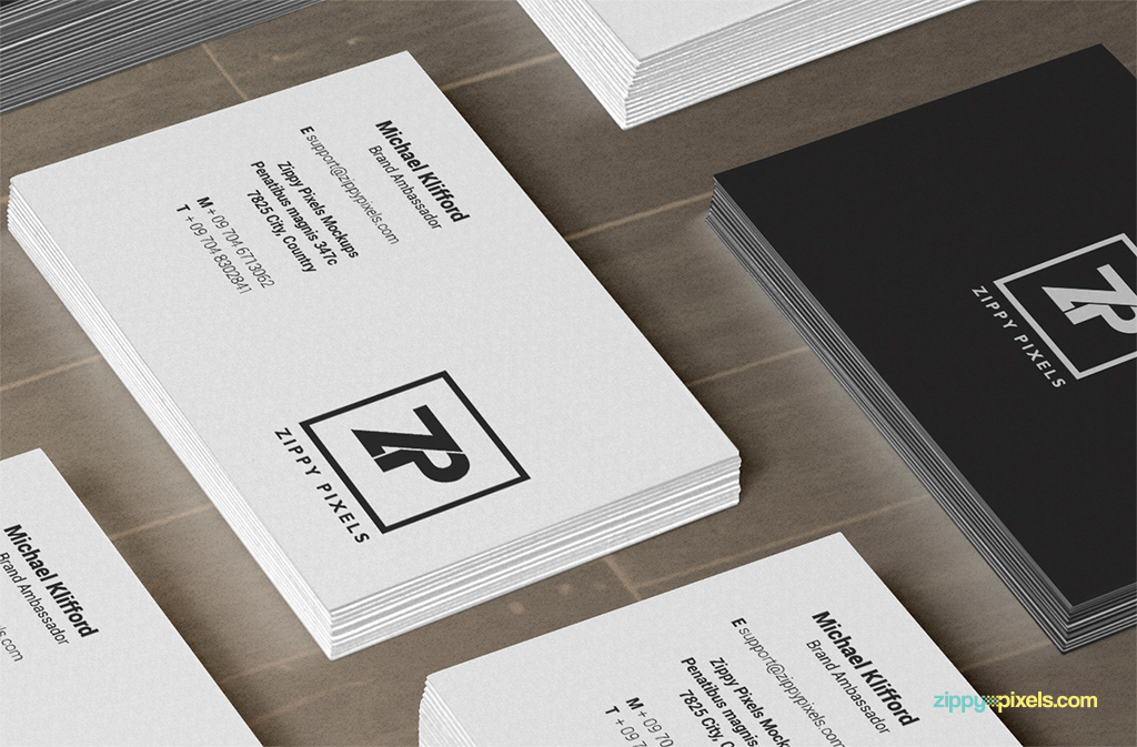 Free PSD Business Card Mockups | ZippyPixels