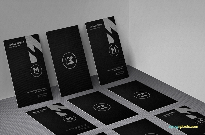 showcase your card designs in a simple yet elegant way
