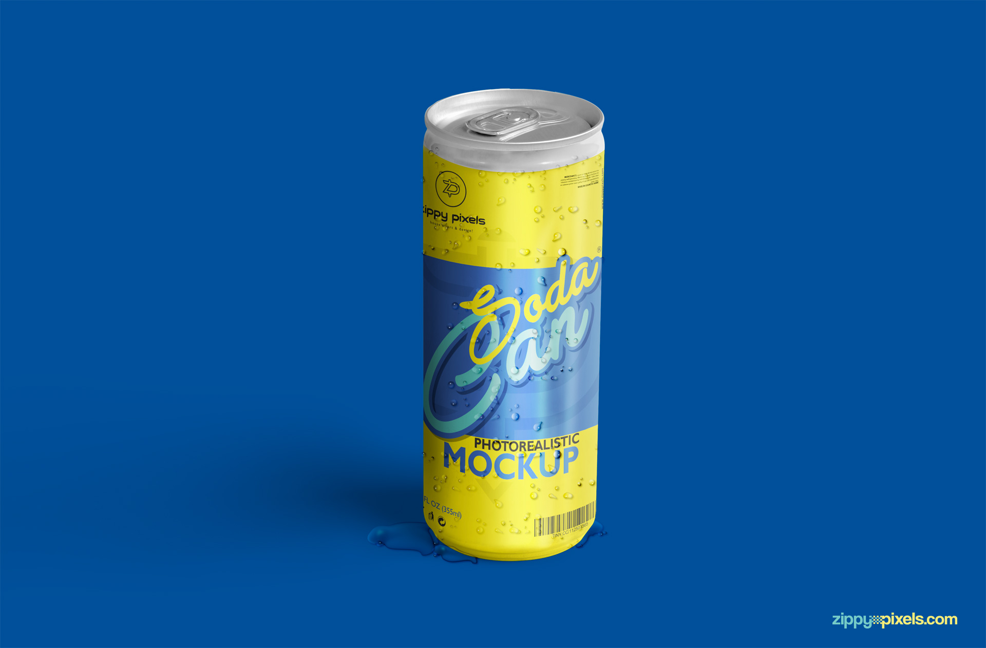 realistic psd soda can for branding