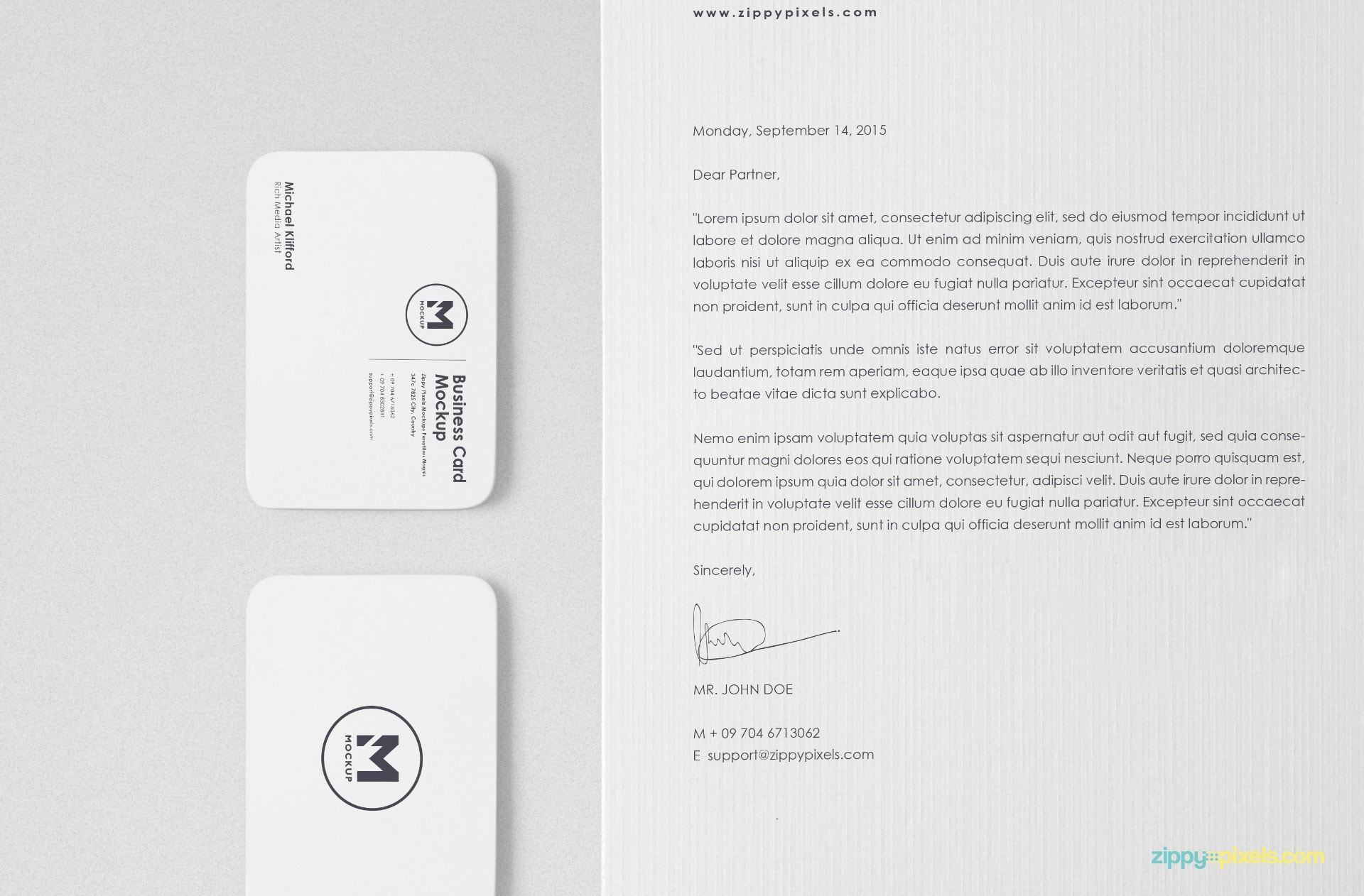 perfect way to showcase your letterhead and business card designs
