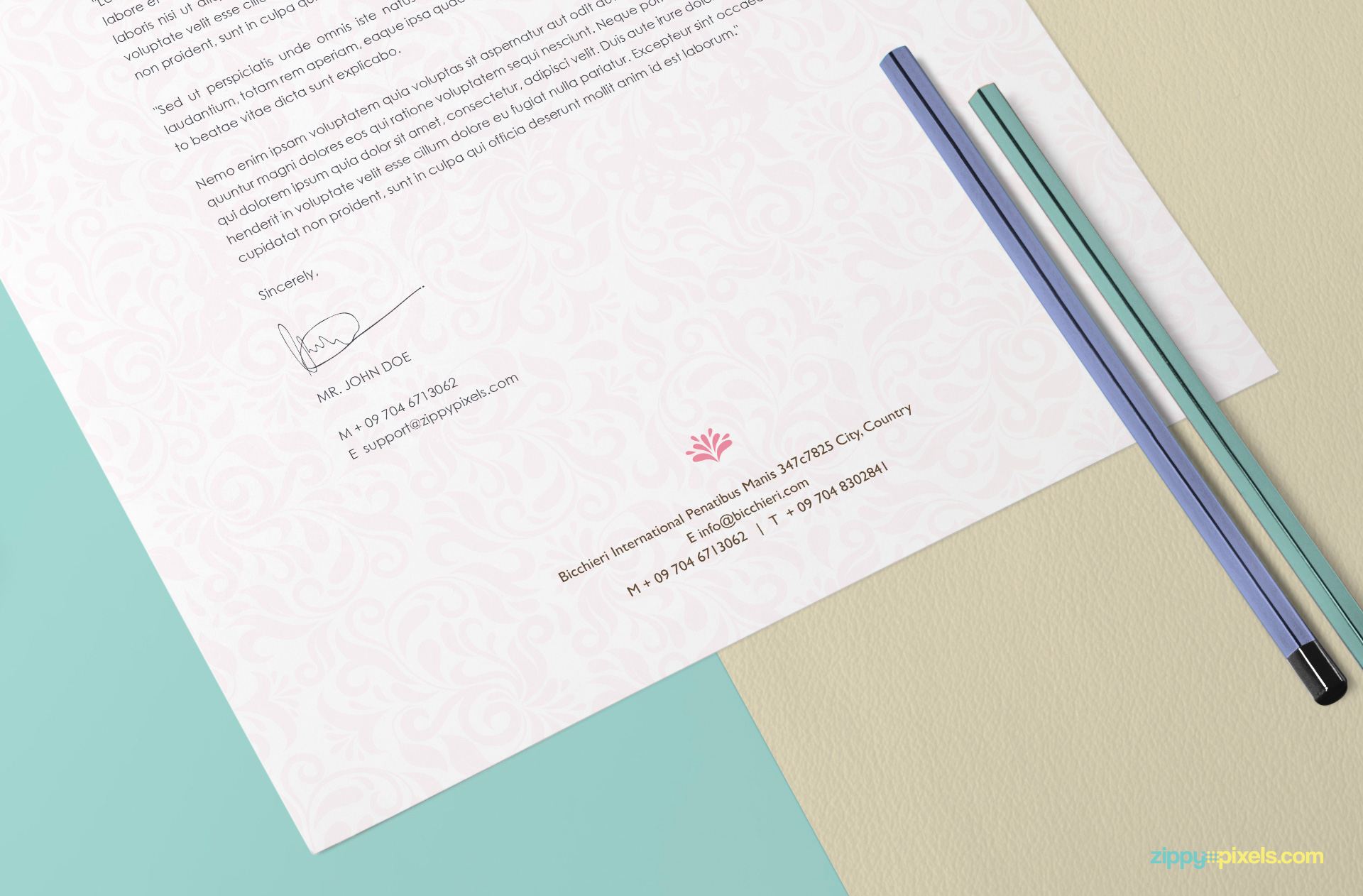 a beautiful way to showcase your letterhead and art designs