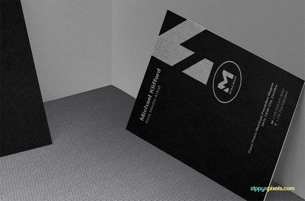free business card psd mock-up with smart object layers