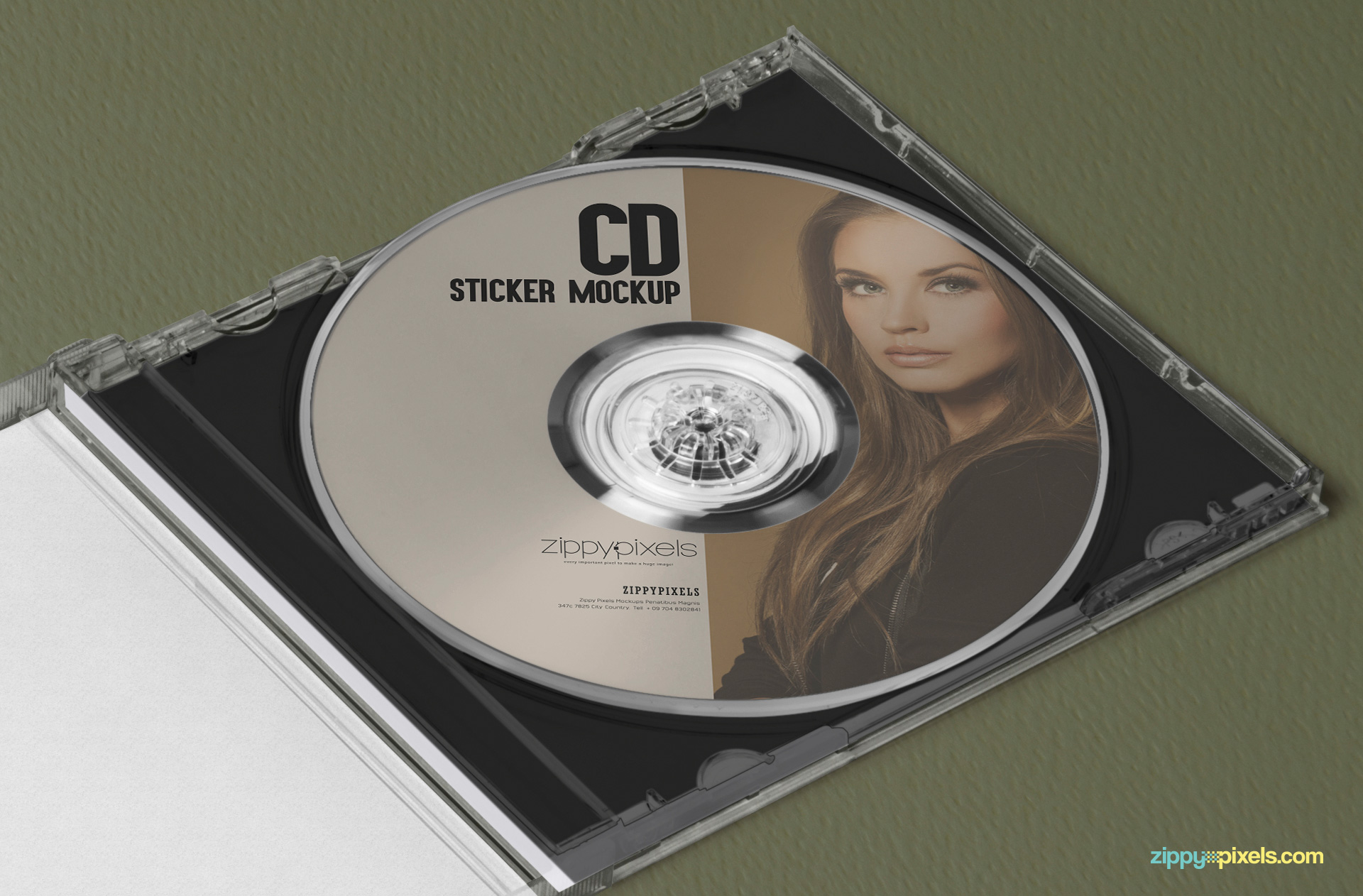 free cd label mock-up for stationery and company branding projects