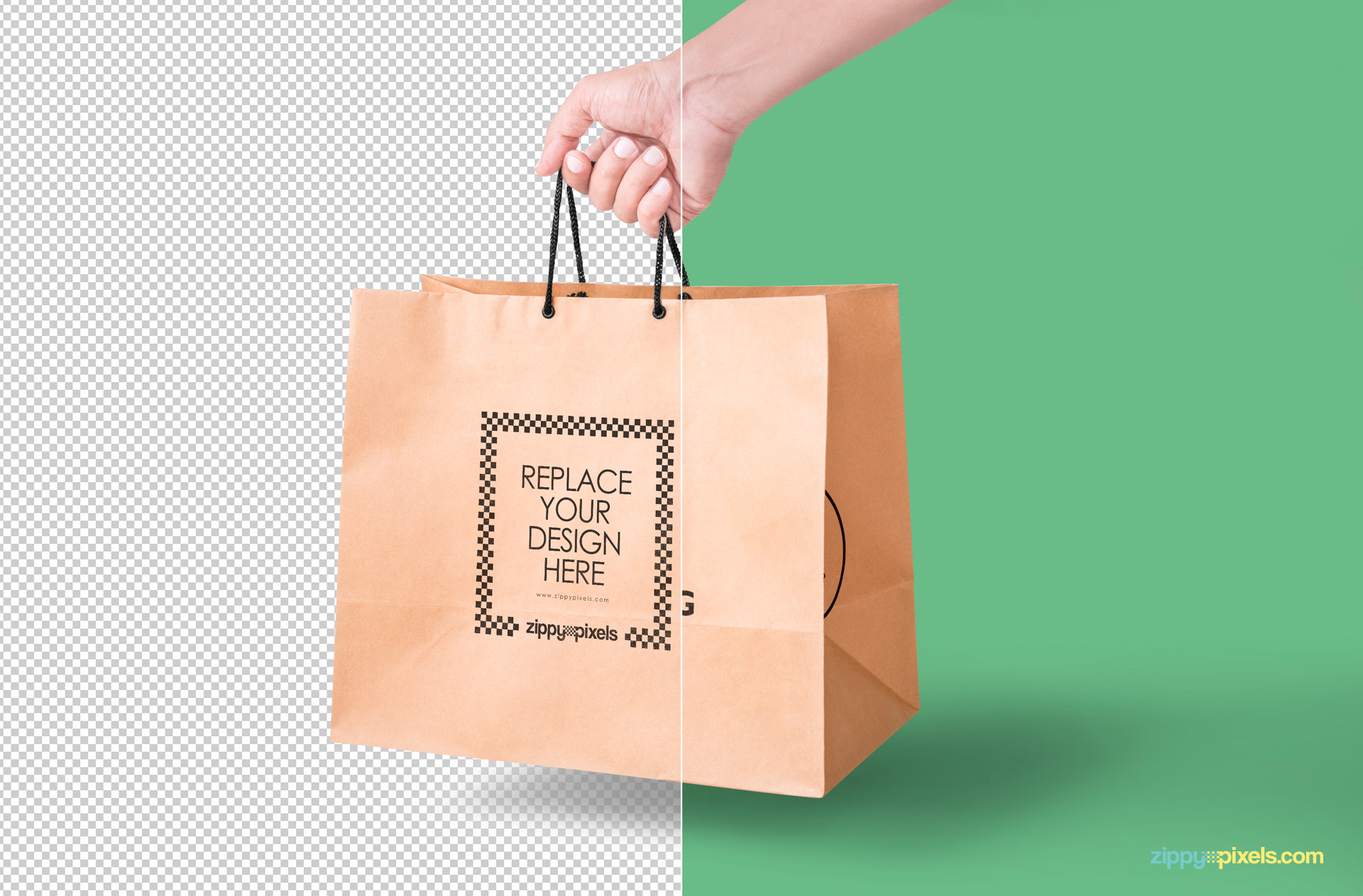 paper bag mockup free psd download zippypixels