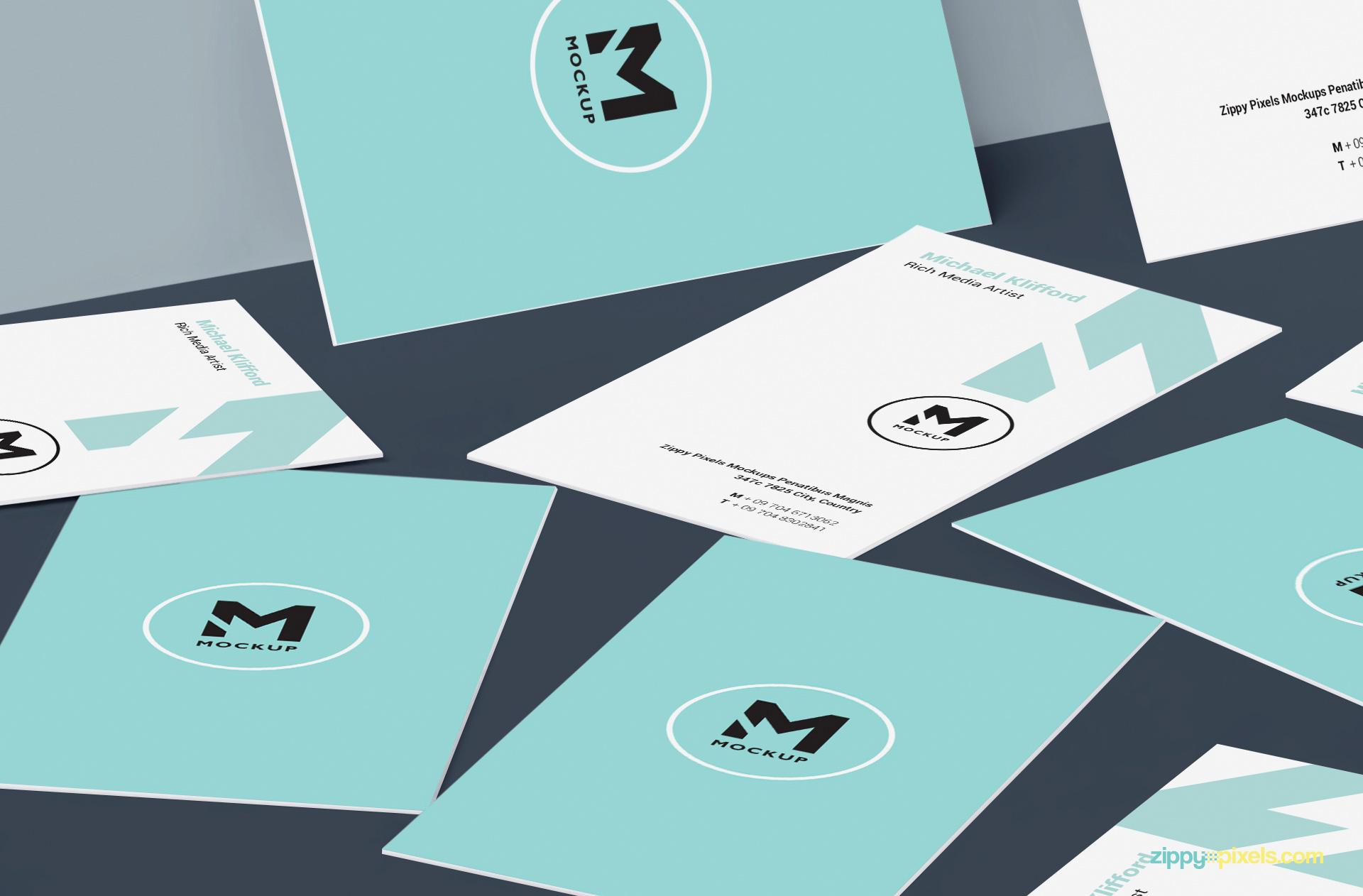 print ready free card design psd