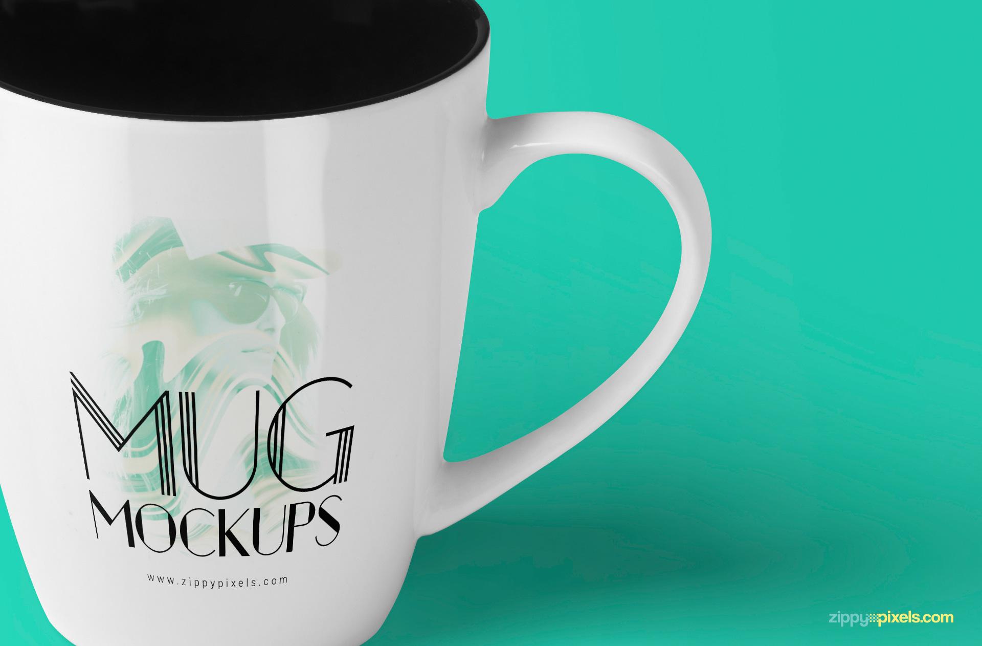 3 free realistic mug mockups in various perspectives