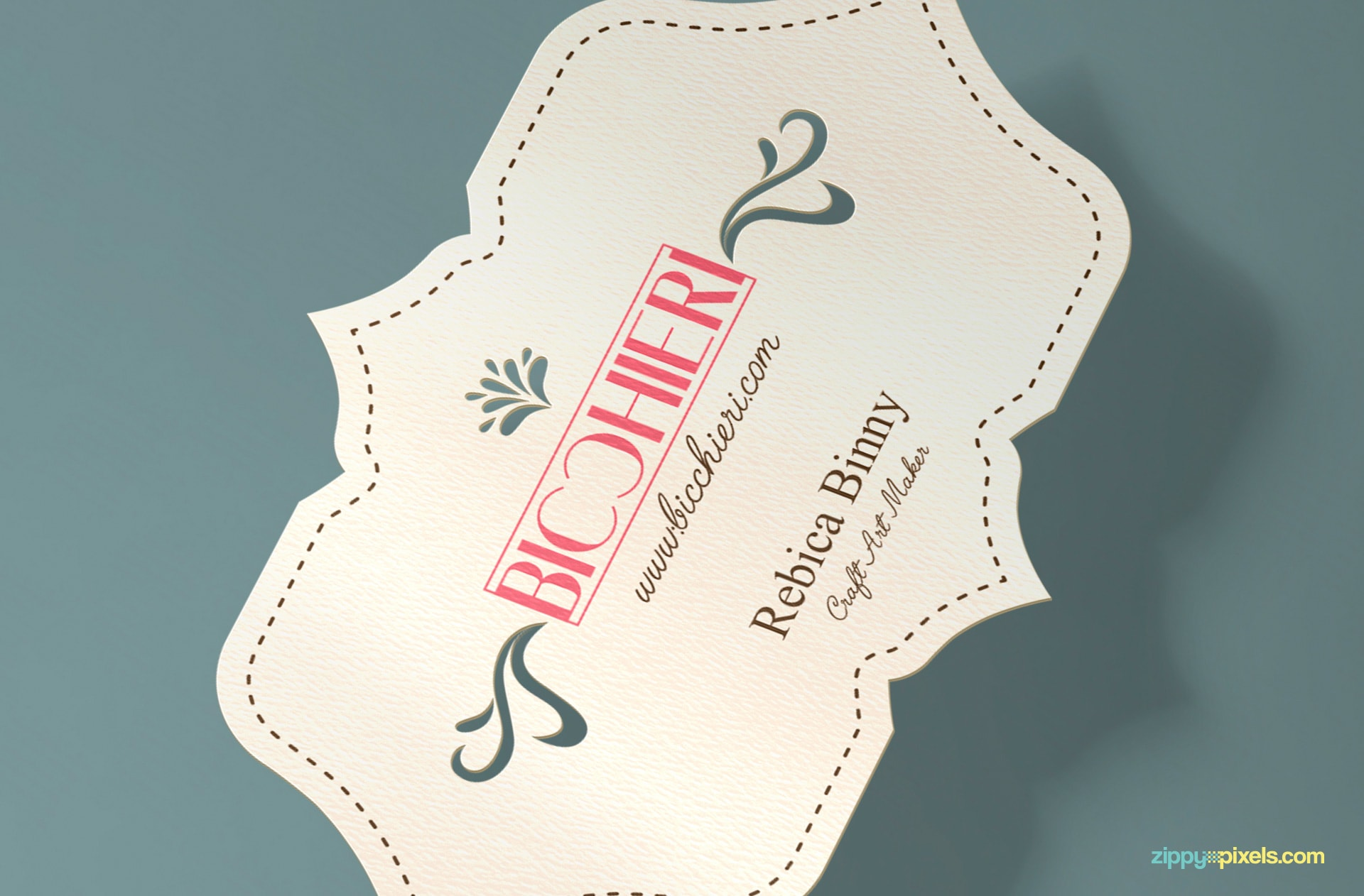 present your die cut business card designs with ease