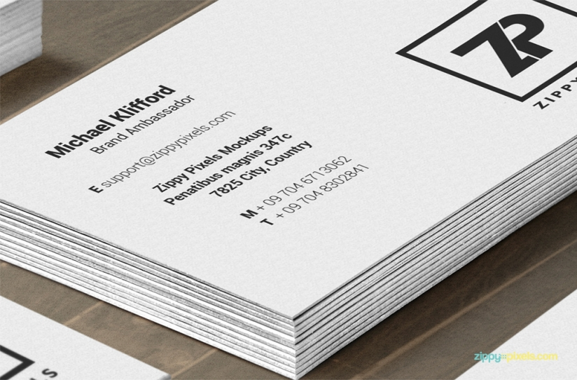 free business cards in vertical and horizontal view