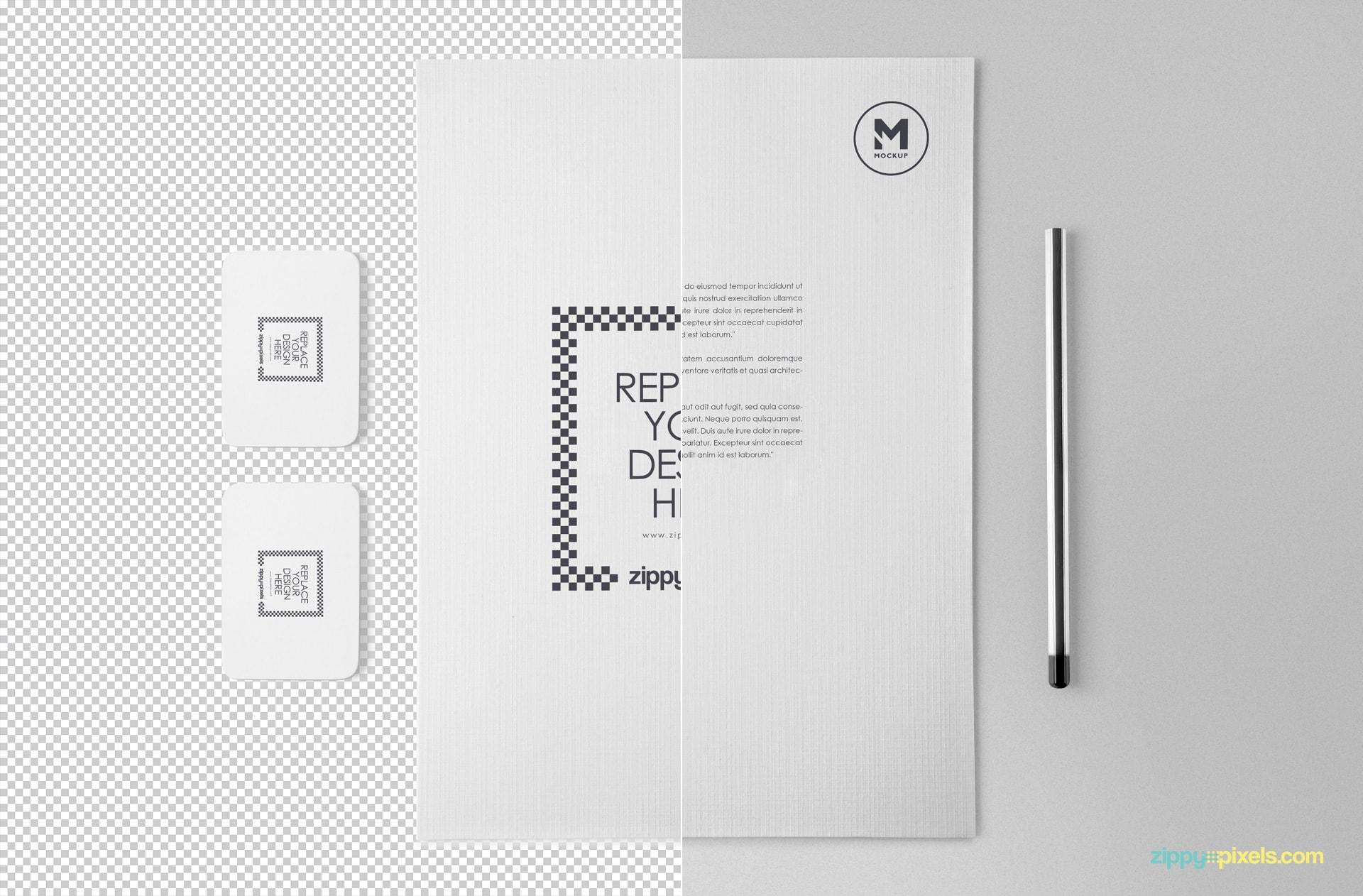 free customizable stationery mockup psd